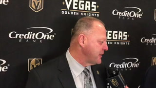 Golden Knights coach Gerard Gallant on Fleury's debut