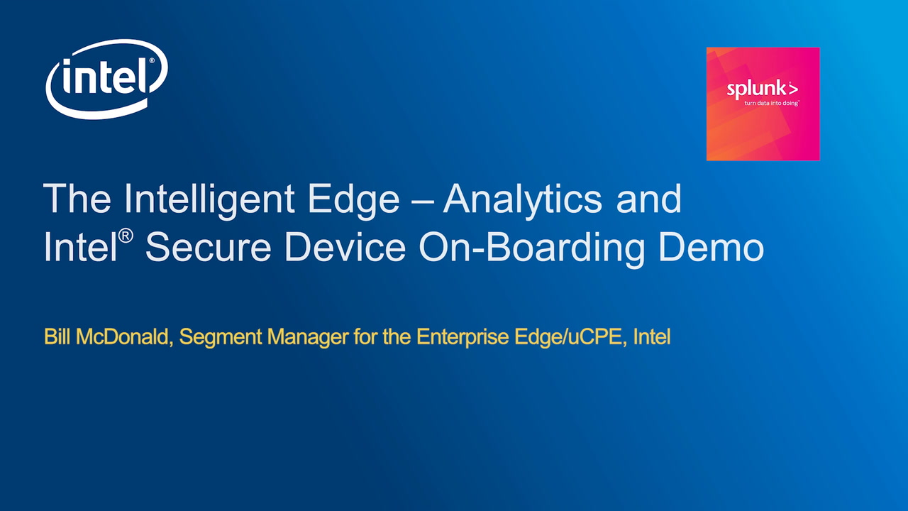 Chapter 1: Analytics and Intel® Secure Device On-Board Demonstration