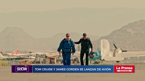Show, resumen del 27-7-2018. Tom Cruise y James Corden se lanzan de avión en paracaídas