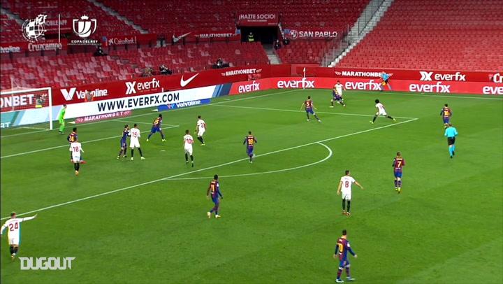 Sevilla beat Barcelona 2-0 in semi-final first leg