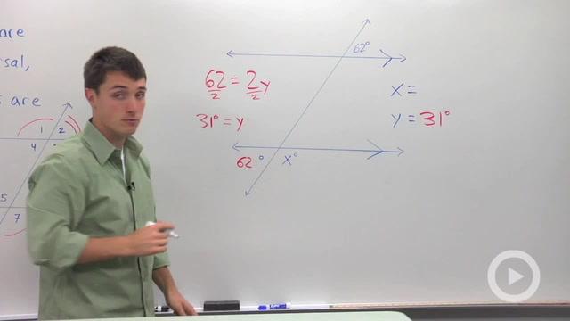 Alternate Exterior Angles - Problem 2