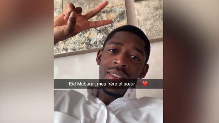 Dembélé comparte la fiesta de final del ayuno de Ramadán