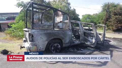 Audios de policías al ser emboscados por cártel Jalisco
