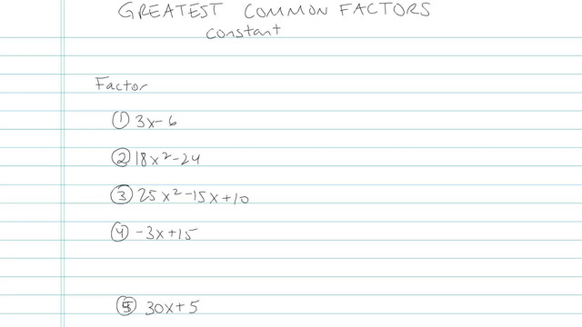 Greatest Common Factors - Problem 5