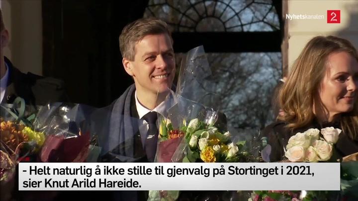 Knut Arild Hareide utenfor slottet