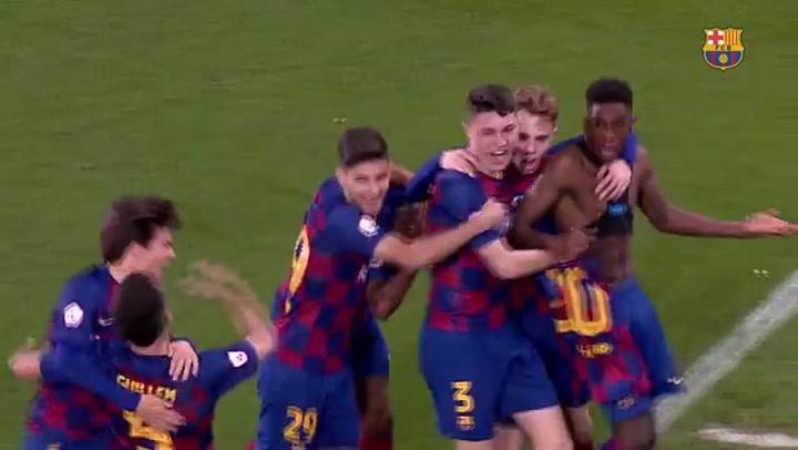 Resumen Barça B - Llagostera (3-2)