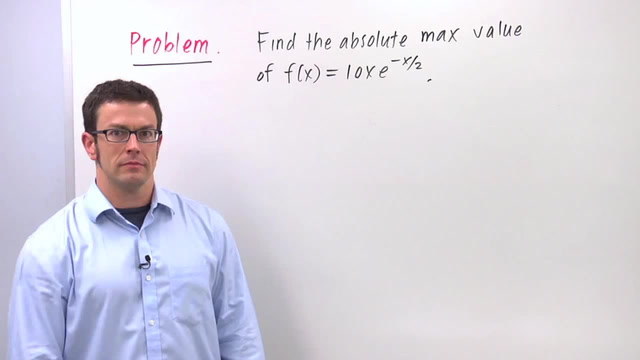 Optimization Using the First Derivative Test - Problem 1