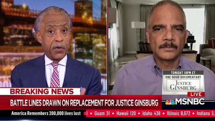 Eric Holder on MSNBC, 9/19/2020