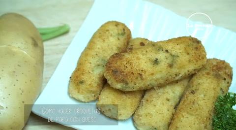 Cocinado con Mayte:¿Cómo hacer croquetas de papa con queso?