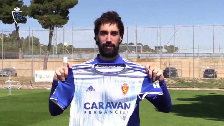 """Eguaras: """"Mi decisión de renovar por el Real Zaragoza es acertada"""""""