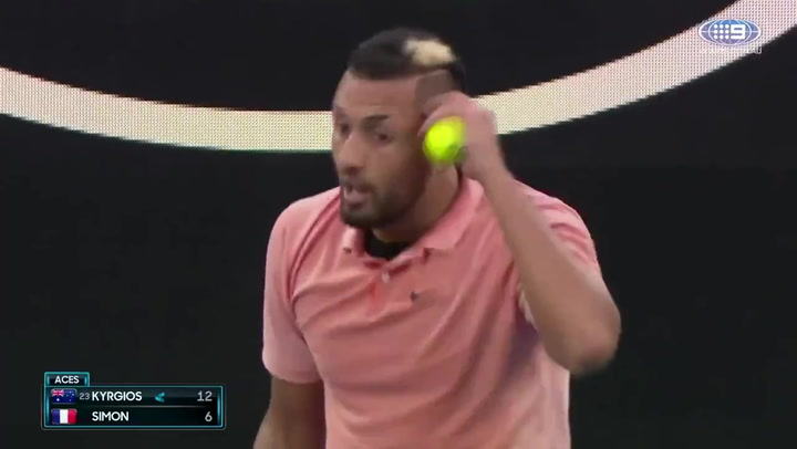 Nick Kyrgios se burla de Rafa Nadal en pleno partido del Open de Australia
