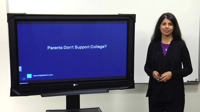 Parents don't support college?