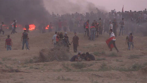 Un palestino muerto en Gaza en nuevos enfrentamientos