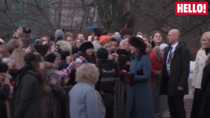 William And Kate Take A Stroll Around The Palace Gardens In Norway