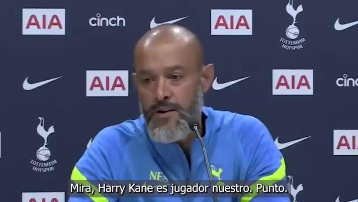 Contundente aviso de Nuno a los clubs interesados en Kane