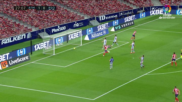 Gol de Correa (2-0) en el Atlético 2-1 Real Sociedad