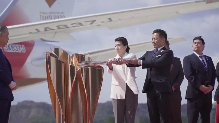 La llama olímpica ya está en Japón