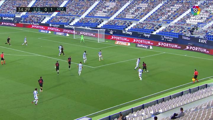 Gol de Óliver Torres (0-2) en el Leganés 0-3 Sevilla