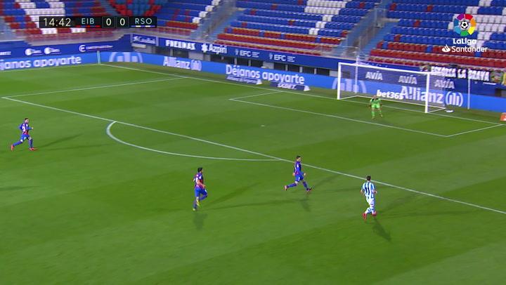 Gol de Oyarzabal (p.) (0-1) en el Eibar 1-2 Real Sociedad