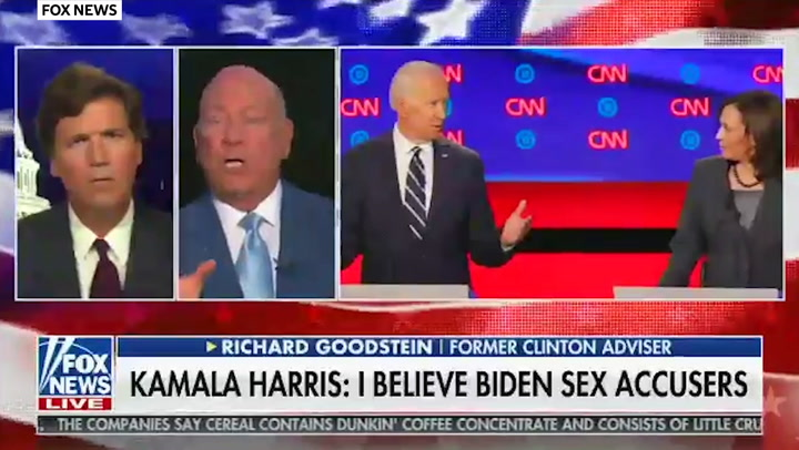 Whatever Tucker Carlson Refuses To Pronounce Kamala Harris S Name Correctly The Independent The Independent