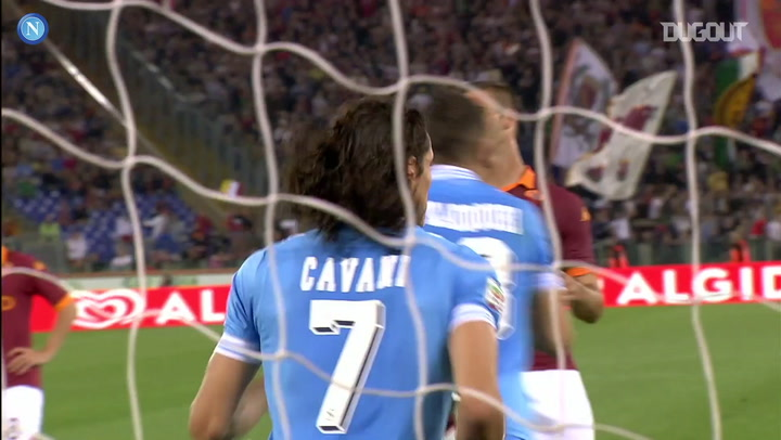 Último gol de Cavani pelo Napoli