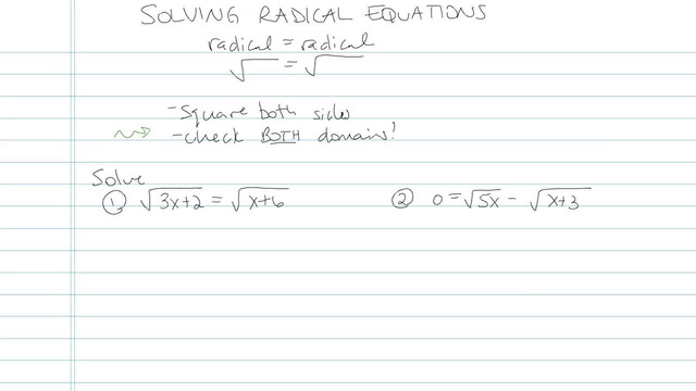 Solving Radical Equations - Problem 6