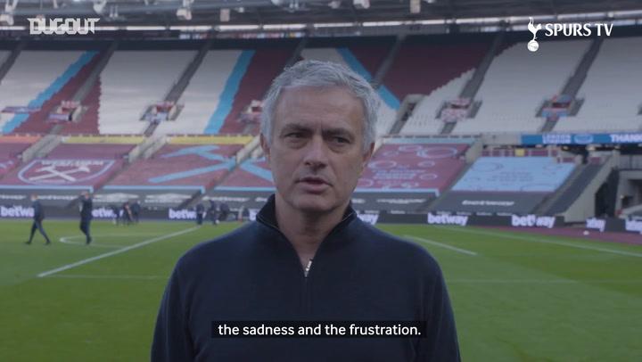 Jose Mourinho gives assessment of West Ham defeat