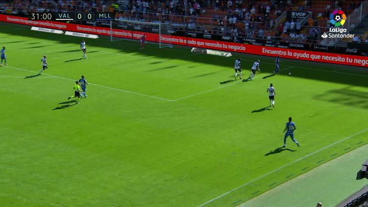 Gol de Ángel (0-1) en el Valencia 2-2 Mallorca