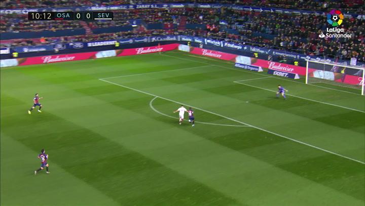 Gol de Munir (0-1) en el Osasuna 1-1 Sevilla
