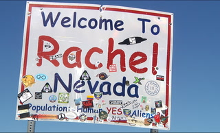 Update on the last day of Alienstock in Rachel Nevada