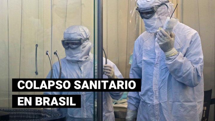 Red hospitalaria de Brasil está colapsada por la COVID-19