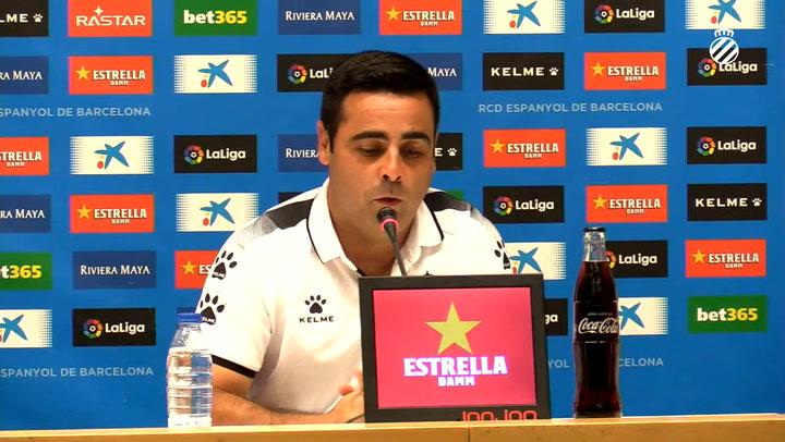 Rueda de prensa de David Gallego (Espanyol), previa del partido de Europa League ante el Stjarnan