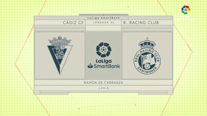 LaLiga SmartBank (J25): Resumen y gol del Cádiz 1-0 Racing