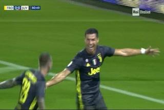 Cristiano Ronaldo marca el 1 - 0 de la Juventus ante el Frosione