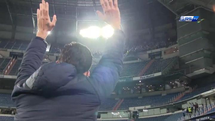 Wililan José recibió una sonora ovación de la afición de la Real en el Bernabéu