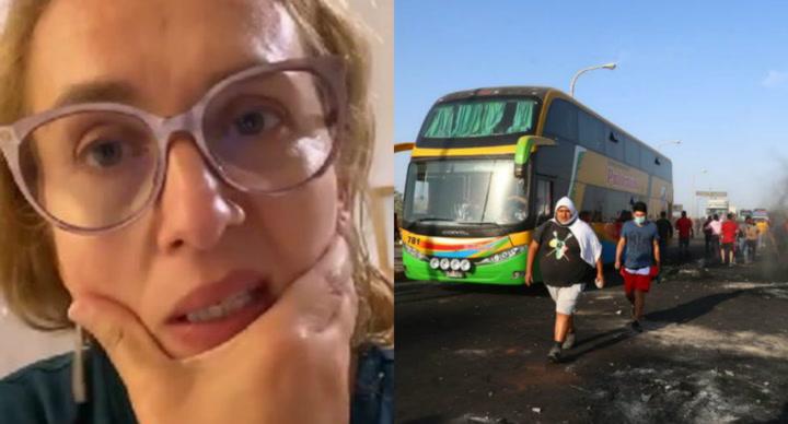 """Katia Condos desesperada por no poder retornar a Lima por el paro agrario: """"Me parte el alma pensar en las personas que están en la carretera"""""""