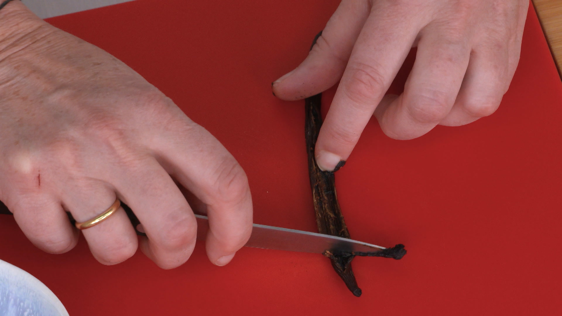 Limpieza de la vainilla
