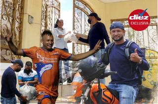 Entregando rosquillas, ropa y comida; así se gana la vida como delivery Ronal Montoya, capitán de la UPNFM