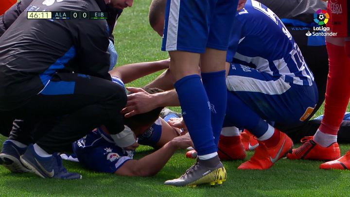 LaLiga: Alavés - Eibar (1-1). Las lesiones de Duarte y Escalante
