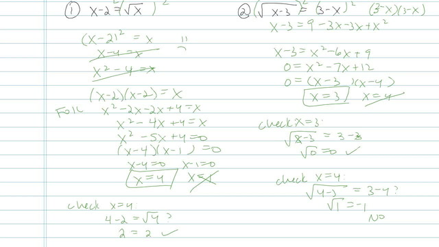 Solving Radical Equations - Problem 11