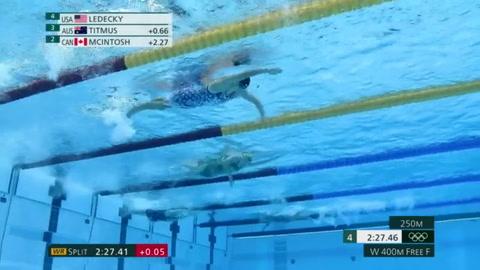 Titmus destrona a Ledecky en 400 m libre, Dressel suma su primer oro