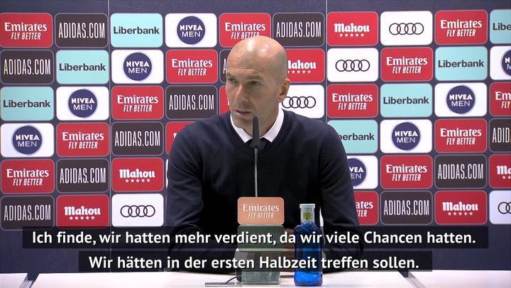 """Zidane enttäuscht: """"Hätten mehr verdient"""""""
