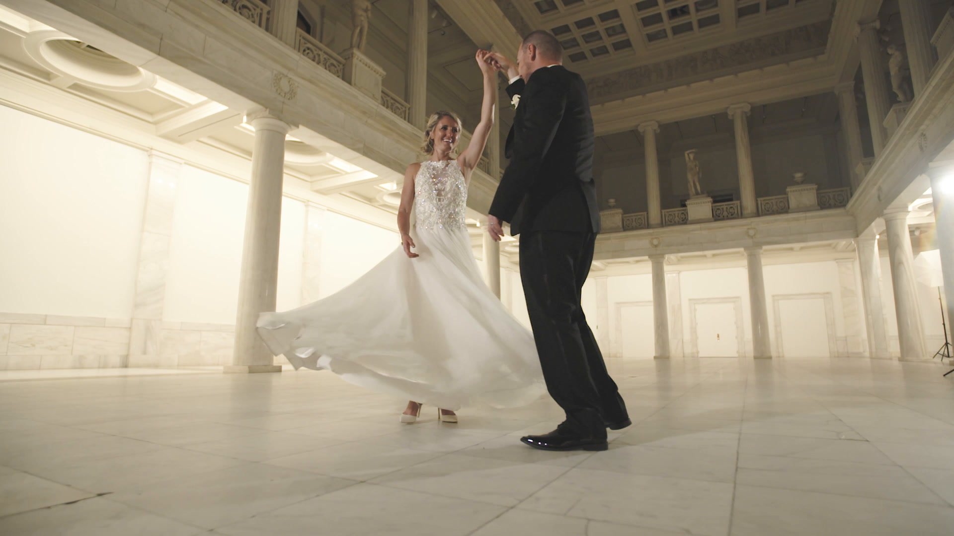 Jenny + Max | Pittsburgh, Pennsylvania | Carnegie Music Hall Foyer
