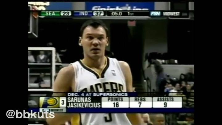 Los mejores momentos de Sarunas Jasikevicius en su paso por la NBA