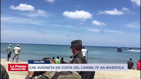 Cae avioneta en costa del Caribe; FF AA investiga si transportaba drogas