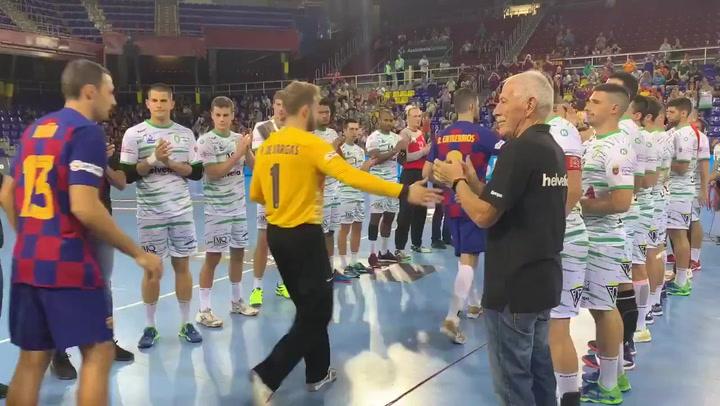 Anaitasuna hizo el pasillo al Barça, campeón vigente de la ASOBAL