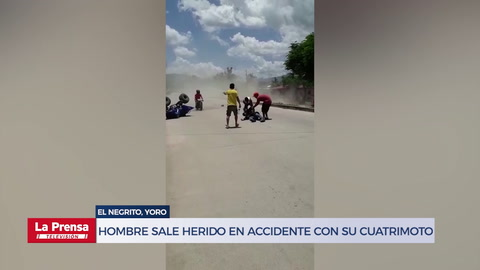 Hombre sale gravemente herido en accidente con su cuatrimoto en El Negrito, Yoro