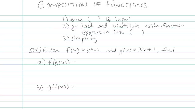 Composition of Functions - Problem 3