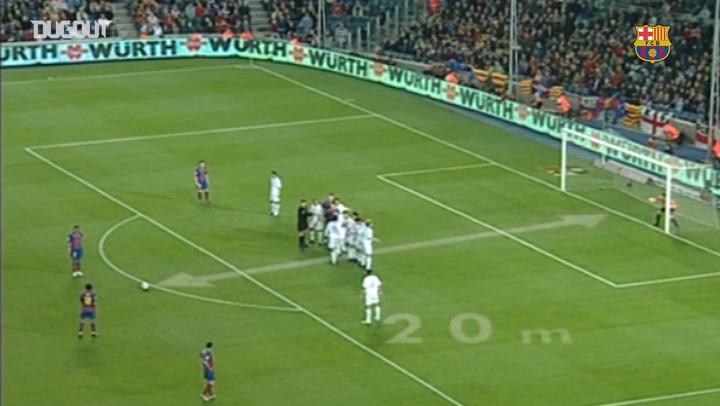 Ronaldinho's stunning free-kick against Getafe