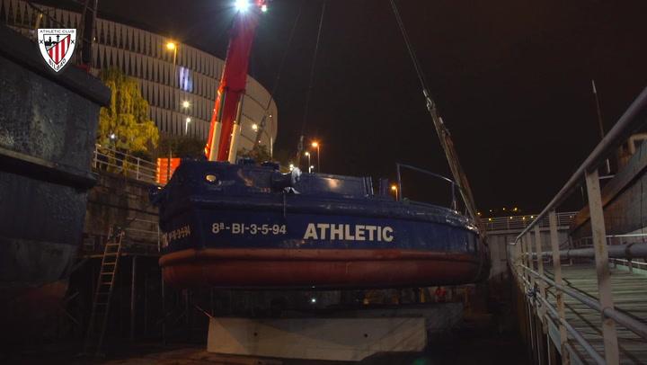 Comienzan los trabajos de restauración de la gabarra 'Athletic'